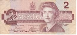BILLETE DE CANADA DE 2 DOLARES DEL AÑO 1986  (BANKNOTE) - Canada