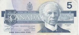 BILLETE DE CANADA DE 5 DOLLARS DEL AÑO 1986 CALIDAD EBC (XF) (BANKNOTE) - Kanada