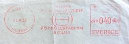 SPORT  SVEZIA ANNULLO MECCANICO ROSSO FOOTBOLLSTADION SOLNA  11/4/1957 - Atletica