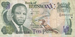 BILLETE DE BOTSWANA DE 10 PULA DEL AÑO 2002  (BANKNOTE) - Botswana