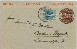 HAUTE SILESIE CP 10pf CIRCULEE SEPTEMBRE 1920 - Schlesien (Ober- Und Nieder-)
