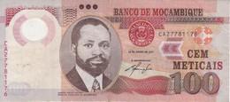 BILLETE DE MOZAMBIQUE DE 100 METICAIS DEL AÑO 2011 (BANKNOTE) (JIRAFA-GIRAFFE) POLIMERO - Mozambique