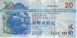 BILLETE DE HONG KONG DE 20 DOLLARS DEL AÑO 2003 (BANKNOTE) - Hong Kong