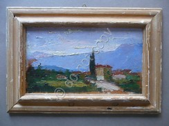 Tarcento Udine Quadretto Ad Olio Veduta 1917 Arte Pittura Non Firmato Locale - Olii