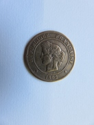 008 - 5 Centimes A - 1892 - Céres -Oudiné - Bronze - 25 Mm - 4,9 G - C. 5 Centimes