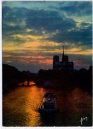 Paris- - Coucher De Soleil Sur Notre-Dame - The River Seine And Its Banks