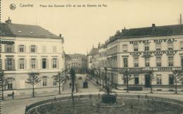 BE  COURTRAI   / Place Des Eperons D'Or Et Rue Du Chemin De Fer / - Kortrijk
