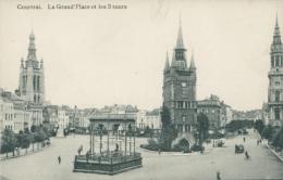 BE  COURTRAI   /La Grand'Place Et Les Trois Tours  / - Kortrijk