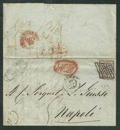 DA ROMA A NAPOLI - 20.7.1858 - TASSATA PER 5 GRANA. - Stato Pontificio