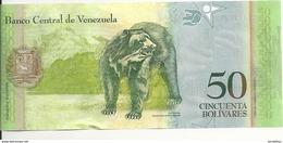 VENEZUELA 50 BOLIVARES 2009 UNC P 92 B - Venezuela