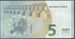 € 5 SPAIN  VB V010 H6  DRAGHI  UNC - 5 Euro