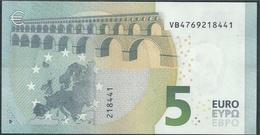 € 5 SPAIN  VB V010 B3  DRAGHI  UNC - 5 Euro