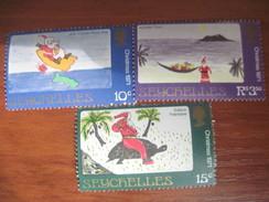 Seychelles 1971 Christmas Children`s Drawings   MNH - Seychelles (1976-...)