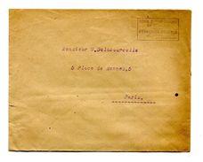 """!!! GUERRE DE 1914-1918 : LETTRE POUR PARIS, CACHET """" MISSION MILITAIRE FRANCAISE EN LITUANIE, LETTRE EN FRANCHISE"""" - Postmark Collection (Covers)"""