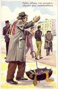 CARRIERE  Ed PHOTOCHROM  N°711  - HUMOUR Marchand  à La Sauvette  Cravate  Parapluie  Gendarme  -  CPSM  9x14 TBE  Neuve - Carrière, Louis