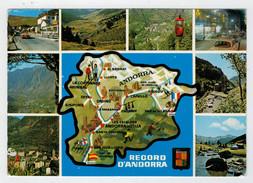 RECORD  D' ANDORRA  (TARGHETTA)      2 SCAN     (VIAGGIATA) - Andorra