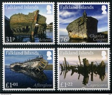 Falkland 2017 - Épaves, Bateaux Naufragés Aux Falkland - 4 Val Neufs*** // Mnh - Falkland