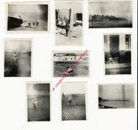 Le Portel En 1921-9 Petites Photos Amateur-papier Velox - Luoghi
