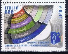 I+ Italien 2001 Mi 2764 Grundrechte-Charta - 6. 1946-.. Repubblica