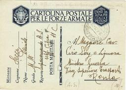 1892 FRANCHIGIA XI UFFICIO POSTALE CONCENTRAMENTO DA SUPERCOMANDO AFRICA SETTENTRIONALE UFFICIO CIFRA POSTA MILITARE 11C - 1900-44 Vittorio Emanuele III