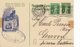 1893 HELVETIA SVIZZERA LUZERN HOFER - CAT - Interi Postali