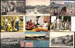 Lot 11 Cartes - Moyen Orient (Judaica, Constantinople, Charmeur De Serpent, Timbres, Allep, Syrie...) - Judaisme