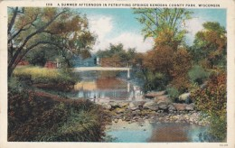 Wisconsin Kenosha A Summer Afternoon In Petrifying Springs Kenosha County Park 1926 Curteich - Kenosha