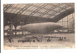 PARIS - LE DIRIGEABLE LEBAUDY LE JAUNE DANS LA GALERIE DES MACHINES - Zeppeline