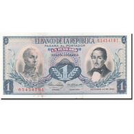 Colombie, 1 Peso Oro, 1959-1960, 1963-10-12, KM:404b, SPL - Colombie