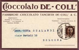 1959 TORINO TANCREDI CIOCCOLATO DE - COLL - Marcophilie