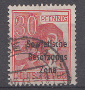 Allemagne Zone Soviétigue 1948  Mi.Nr: 192  Aufdruck  Oblitèré / Used / Gebruikt - Sovjetzone