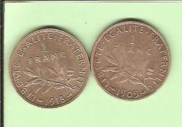 FR084A. 1 FR SEMEUSE ARGENT Silver 1909.1913. ETAT COURANT. COTE 35.00 €... - 75 % - France