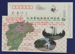 Map,Mapping,China 2005 Geological Survey Institute Of Jiangxi Province Advertising Pre-stamped Card - Other