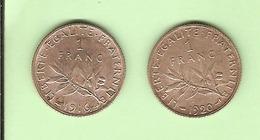 FR084C. 1 FR SEMEUSE ARGENT 1916.1920. ETAT COURANT  ETAT COURANT. COTE 2017...20.00 €...  - 75 % - France