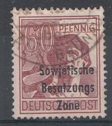 Allemagne Zone Soviétigue 1948  Mi.Nr: 195  Aufdruck  Oblitèré / Used / Gebruikt - Sovjetzone