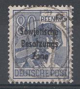 Allemagne Zone Soviétigue 1948  Mi.Nr: 196  Aufdruck  Oblitèré / Used / Gebruikt - Sovjetzone