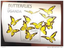 UGANDA   431  MINT NEVER HINGED SOUVENIR SHEET OF BUTTERFLIES - Butterflies