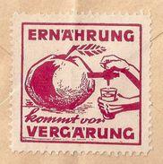 "Vignette  ""Ernährung Kommt Vor Vergärung""          Ca. 1940 - Svizzera"