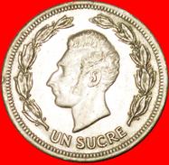 § ZODIAC: ECUADOR ★ 1 SUCRE 1974! LOW START★ NO RESERVE! Antonio José De Sucre (1795-1830) - Ecuador