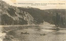 25 - BESANCON-les-BAINS - Passage Du Doubs, De Tarragnoz à Mazagran - Rochers De La Citadelle - Besancon