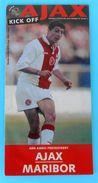 AFC AJAX : NK MARIBOR ... 1997-1998 UEFA CUP Football Soccer Match Programme Fussball Programm Holland Netherland - Books
