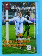 RIJEKA : STANDARD LIEGE - 2014. UEFA EUROPA LEAGUE Official Football Soccer Match Programme Programm Foot Belgium Belgie - Books