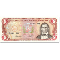 Dominican Republic, 5 Pesos Oro, 1977-1980, 1988, KM:118c, SUP - Dominicaine
