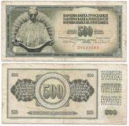 Yugoslavia 500 Dinara 1970 Pick 84.a Ref 1348 - Yugoslavia
