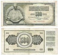 Yugoslavia 500 Dinara 1978 Pick 91.a Ref 1351 - Yugoslavia