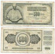 Yugoslavia 500 Dinara 1978 Pick 91.a Ref 1354 - Yugoslavia