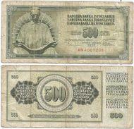Yugoslavia 500 Dinara 1978 Pick 91.a Ref 1355 - Yugoslavia