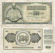 Yugoslavia 500 Dinara 1978 Pick 91.a Ref 1356 - Yugoslavia