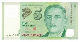Singapour, 5 Dollars, 2005, KM:47, NEUF - Singapour