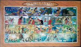 Indonesia, 2005, Mi. 2386-2405, Y&T 2120-39, Sc. 2070, SG 3000-19, Folktales, Folklore & Legends, MNH - Fairy Tales, Popular Stories & Legends